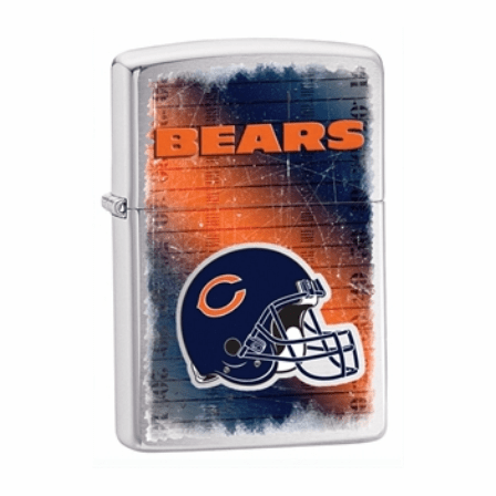 Chicago Bears NFL Brushed Chrome Zippo Lighter - ID# Z702