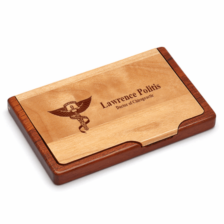 Chiropractor's Engraved Business Card Holder
