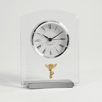 Chiropractor Theme Desk Clock