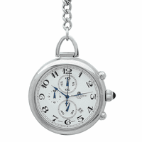 Chronograph Quartz Charles Hubert Pocket Watch & Chain #3571