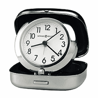 Clam Shell Travel Alarm Clock by Howard Miller