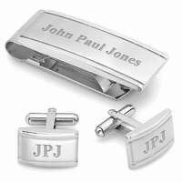 Classic Collection Engraved Money Clip & Cufflinks Gift Set