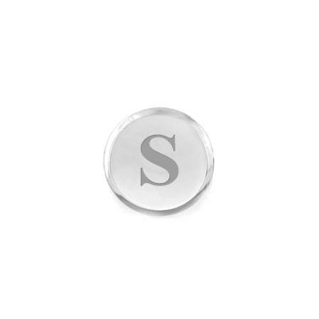 Classic Collection Round Engraved Sterling Silver Tie Tack