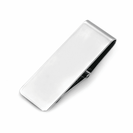 Classic Collection Sterling Silver Hinged Engravable Money Clip