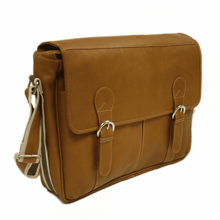 Classic Expandable Messenger Bag by Piel Leather - Free Personalization