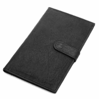 Classic Genuine Leather Snap Closing Ladies Credit Card Holder