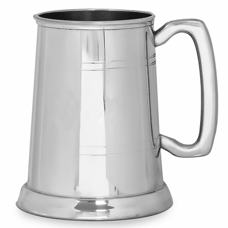 classic glass bottom pewter tankard executive gift shoppe