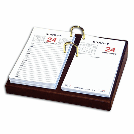 "Classic Leather 3.5"" X 6"" Desktop Calendar Holder - Discontinued"