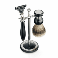 Classic Shaving Set & Stand by Dalvey - Black Handle