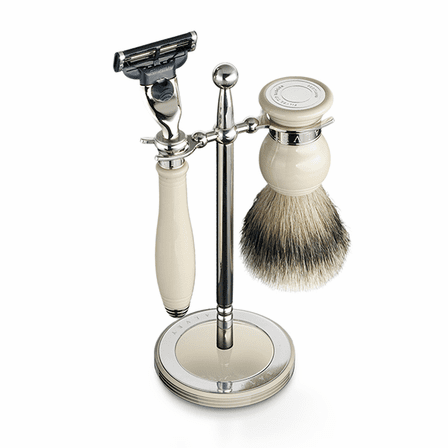 Classic Shaving Set & Stand by Dalvey - White Handle