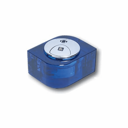 Clear Blue Crystal Cube Table Lighter - Discontinued