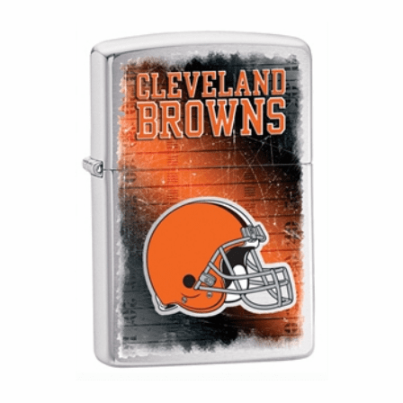 Cleveland Browns NFL Brushed Chrome Zippo Lighter - ID# 28588