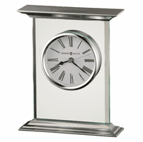Clifton Glass And Metal Carriage Clock by Howard Miller
