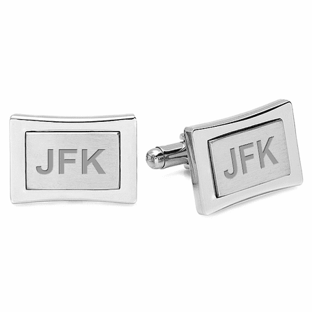 Colorado Collection Engraved Stainless Steel Cufflinks