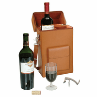Connieseur Genuine Leather Wine Carrier