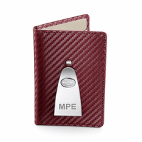 Continental Credit Card Wallet & Money Clip in Burgundy by Dalvey - Discontinued