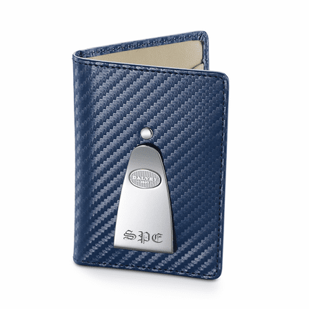 Continental Credit Card Wallet & Money Clip in Navy by Dalvey - Discontinued