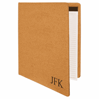 Cork Portfolio & Notebook with Personalized Initials