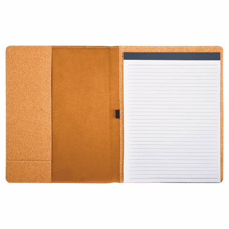 Cork Small Portfolio & Notebook with Script Monogram