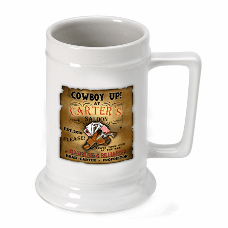 Cowboy Up German Beer Stein - Discontinued