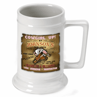 Cowgirl Up German Beer Stein - Discontinued