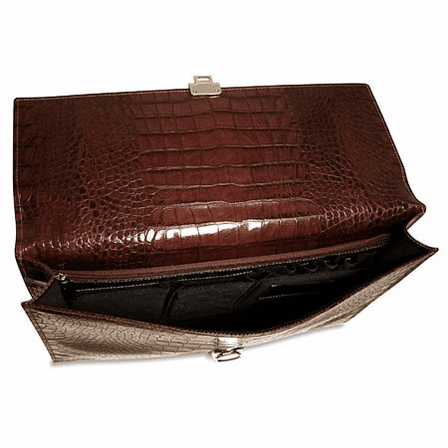 Croco Collection Slim Underarm Briefbag by Jack Georges
