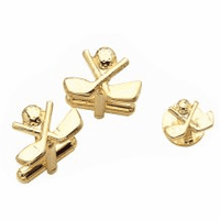 Crossing Golf Clubs Cufflinks & Studs Set - Discontinued