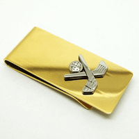Crossing Golf Clubs French Fold Money Clip