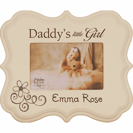 """Daddy's Little Girl Personalized  4"""" x 6"""" Picture Frame - Discontinued"""