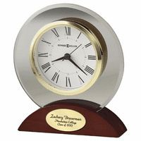 Dana Round Glass Alarm Clock by Howard Miller