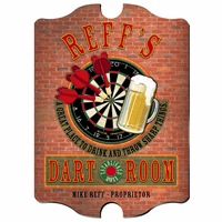 Dart Room Vintage Pub Sign - Free Personalization