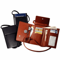Deluxe Leather Passport Case with Removable Shoulder Strap