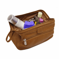 Deluxe Leather Travel Toiletry Bag