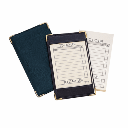 DELUXE POCKET JOTTER in Top Grain Napa Leather by Royce