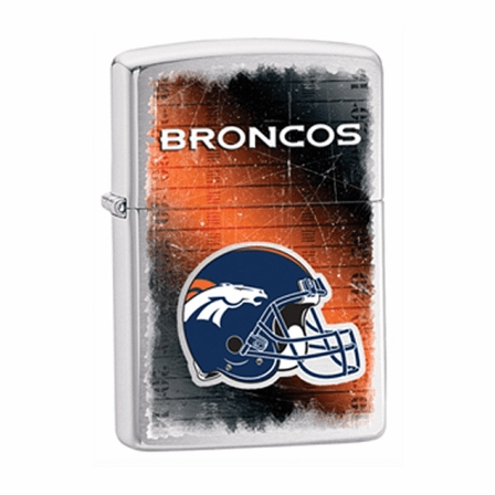 Denver Broncos NFL Brushed Chrome Zippo Lighter - ID# Z798