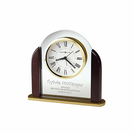 Derrick Personalized Desk Clock By Howard Miller Executive Gift Shoppe