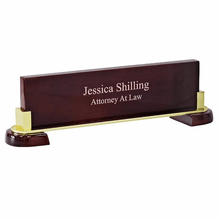 Personalized Desktop Name Plate For A New Job