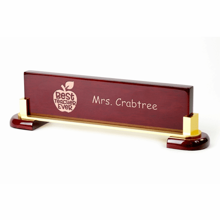 Desktop Name Plate For Best Teacher Ever - Personalized