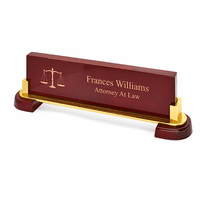 Personalized Desktop Name Plate For Lawyers & Judges