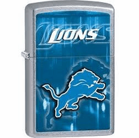 Detroit Lions NFL Brushed Chrome Zippo Lighter - ID# 28601