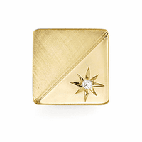 Diamond Starburst 14 Karat Gold Tie Tack - Discontinued