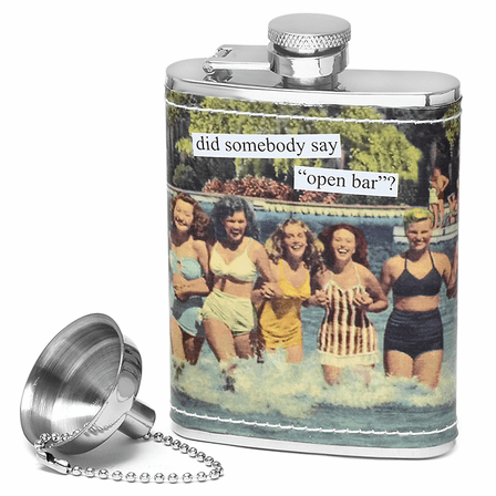 """Did Somebody Say """"Open Bar"""" Flask by"""