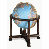 Diplomat Floor Globe In Blue by Replogle Globes
