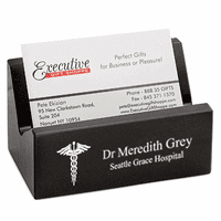 Doctor's Desktop Business Card Holder