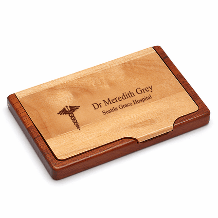 Doctor's Engraved Business Card Holder