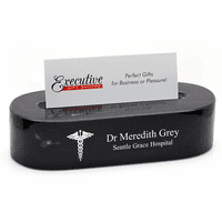 Doctor's Oval Desktop Business Card Holder
