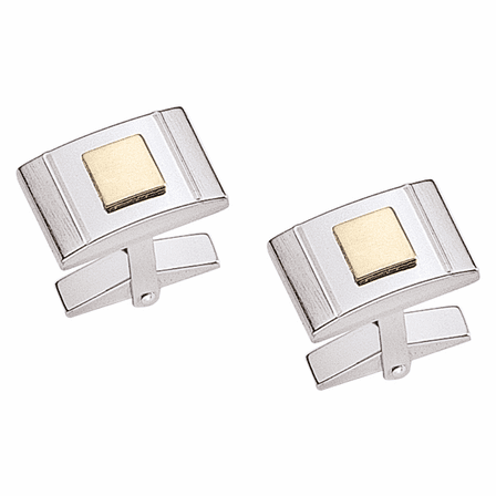 Dolan & Bullock Sterling Silver & Gold Accent Cufflinks - Discontinued