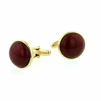 Domed cornelian cufflinks