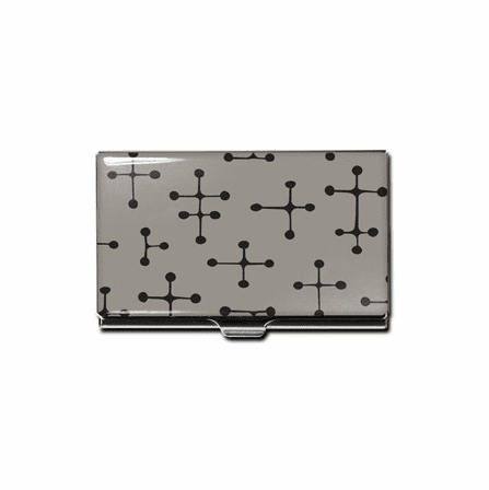 """""""Dots - Gray"""" Business Card Case"""