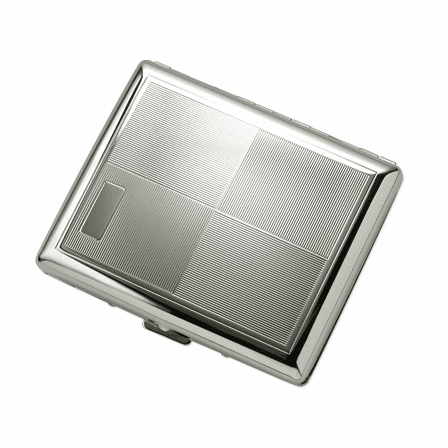 Double Sided 4Square Design Engravable Cigarette Case for Kings and 100s